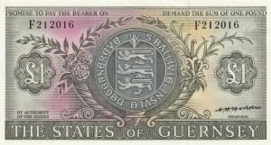 Guernsey, 1 Pound, 1969, UNC, p45b
