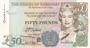Guernsey, 50 Pounds, 1994, UNC, p59