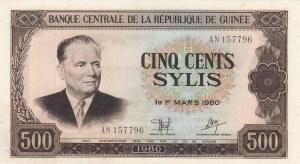 Guinea, 500 Sylis, 1980, UNC, p27