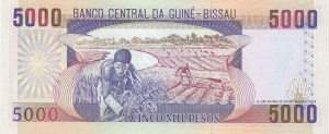 Guinea-Bissau, 5000 Francs, 1993, UNC, p14b