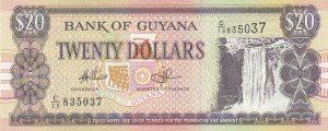 Guyana, 20 Dollars, 2009, UNC, p30e