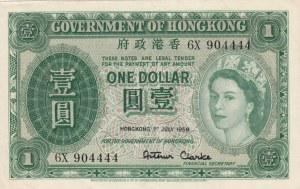 Hong Kong, 1 Dollar, 1959, XF, p324Ab