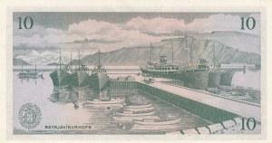 Iceland, 10 Kronur, 1957, UNC, p38