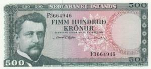 Iceland, 500 Kronur, 1961, UNC, p45