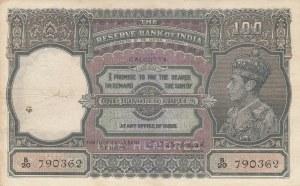 India, 100 Rupees, Calcutta, 1943, VF, p20f, RARE