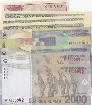 Indonesia, 5 Sen, 500 Rupiah (3), 1000 Rupiah (5) and 2000 Rupiah (2), 1965-2013, UNC, (Total 11 banknotes)