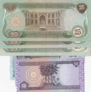Iraq, 1 Dinar, 50 Dinars, 25 Dinars (4), 500 Dinars, 1000 Dinars, 1979-1980, AUNC / UNC, (Total 8 banknotes)