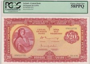 Ireland, 20 Pounds, 1976, AUNC, p67c