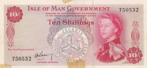 Isle Of Man, 10 Shillings, 1961, XF, p24a