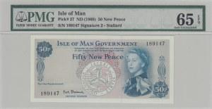 Isle of Man, 50 New Pence, 1969, UNC, p27