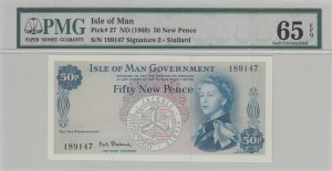 Isle of Man, 50 New Pence, 1969, UNC, p27