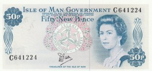 Isle Of Man, 50 New Pence, 1979, UNC, p33