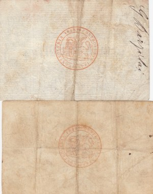 Italy, Venetian Republic, 2 Lire and 5 Lire, 1848, XF, pS186 / pS188, (Total 2 banknotes)
