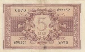 Italy, 5 Lire, 1944, XF, p31