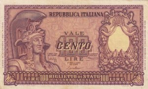 Italy, 100 Lire, 1951, VF, p92