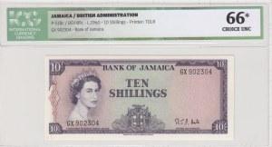 Jamaica, 10 Shillings, 1964, UNC, p51Bc