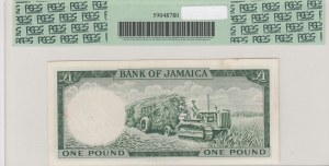 Jamaica, 1 Pound, 1964, AUNC, p51Cd