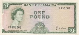 Jamaica, 1 Pound, 1964, AUNC, p51Ce