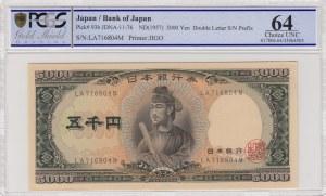 Japan, 5000 Yen, 1957, UNC, p93b
