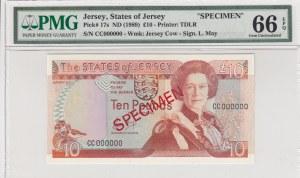 Jersey, 10 Pounds, 1989, UNC, p17s, SPECIMEN