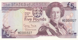 Jersey, 5 Pounds, 1993, UNC, p21