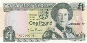 Jersey, 1 Pound, 2000, UNC, p26b