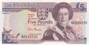 Jersey, 5 Pounds, 2000, UNC, p27