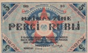 Latvia, Riga, 5 Rubli, 1919, XF