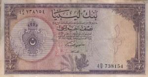 Libya, 1/2 Pound, 1963, FINE (+), p24