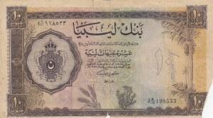 Libya, 10 Pound, 1963, POOR, p27