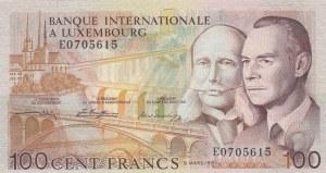 Luxembourg, 100 Francs, 1981, UNC, p14