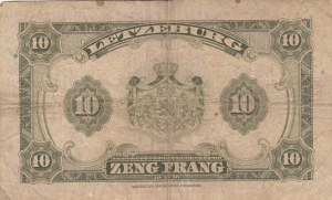 Luxembourg, 10 Francs, 1944, FINE, p44