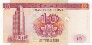 Macau, 10 Patacas, 2001, UNC, p101a