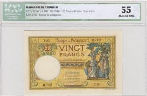 Madagascar, 20 Francs, 1948, AUNC, p37
