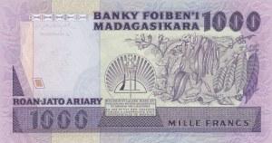 Madagascar, 1000 Ariary, 1983-1987, UNC, p68