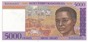 Madagascar, 5000 Francs, 1995, UNC, p78