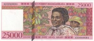 Madagascar, 25.000 Francs, 1998, UNC, p82