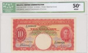 Malaya, 10 Dollars, 1941, XF-AUNC, p13