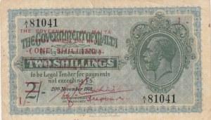 Malta, 2 Shillings on 1 Shilling, 1918, VF, p15