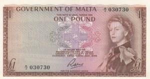 Malta, 1 Pound, 1963, UNC, p26