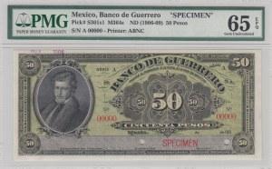 Mexıco, 50 Pesos, 1906-09, UNC, pS301s1, SPECIMEN