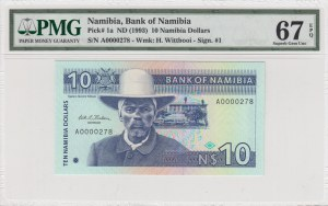 Namibia, 10 Dollars, 1993, UNC, p1a