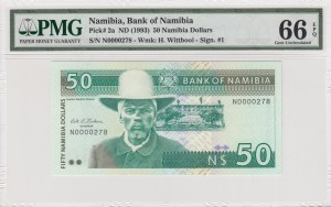 Namibia, 50 Dollars, 1993, UNC, p2a