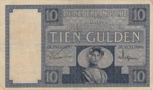 Netherlands, 10 Gulden, 1929, XF, p43b