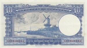 Netherlands, 10 Gulden, 1945, XF (+), p75b
