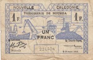 New Caledonia, 1 Franc, 1943, POOR, p55