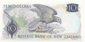 New Zealand, 10 Dollars, 1977, UNC, p166d, REPLACEMENT
