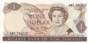 New Zealand, 1 Dollar, 1989, UNC, p169c
