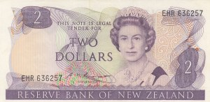 New Zealand, 2 Dollars, 1985, UNC, p170b
