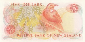 New Zealand, 5 Dollars, 1989, UNC, p171c